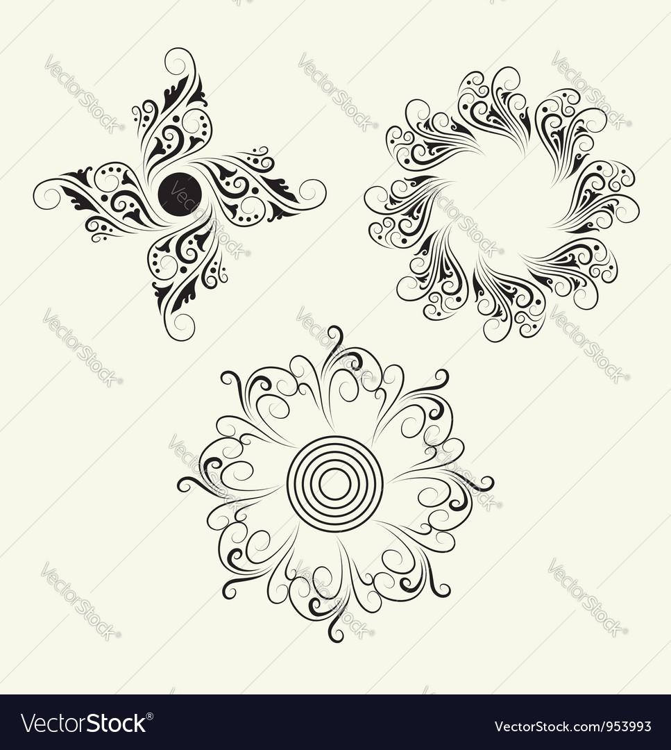 3 element ornaments vector | Price: 1 Credit (USD $1)
