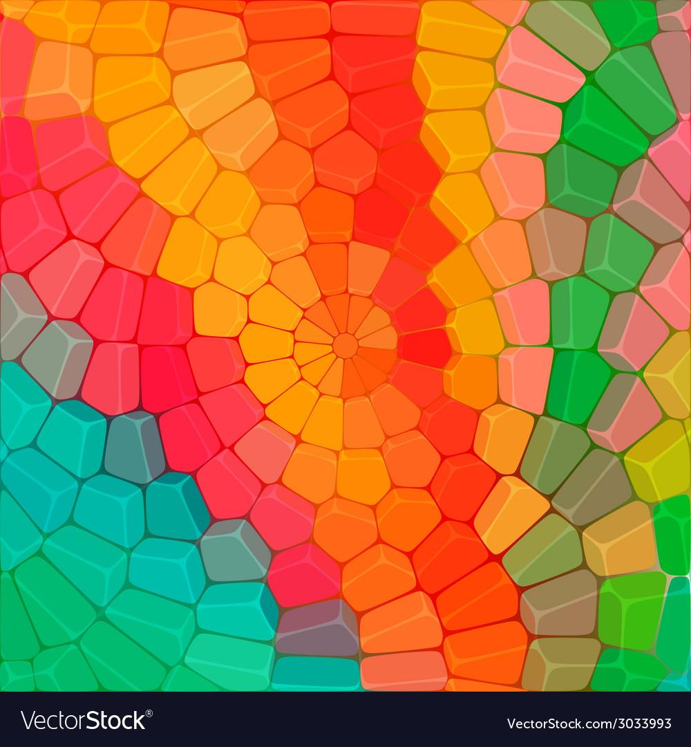 Circular mosaic of stones vector | Price: 1 Credit (USD $1)