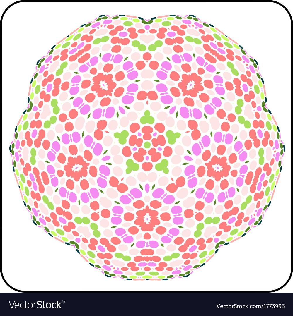 Circular symmetry pattern vector | Price: 1 Credit (USD $1)