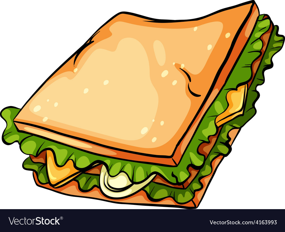 Delicious sandwich with lettuce vector | Price: 1 Credit (USD $1)