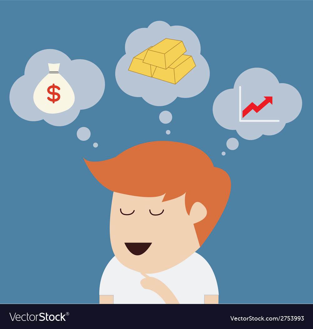 Man thinking or dream concept vector | Price: 1 Credit (USD $1)