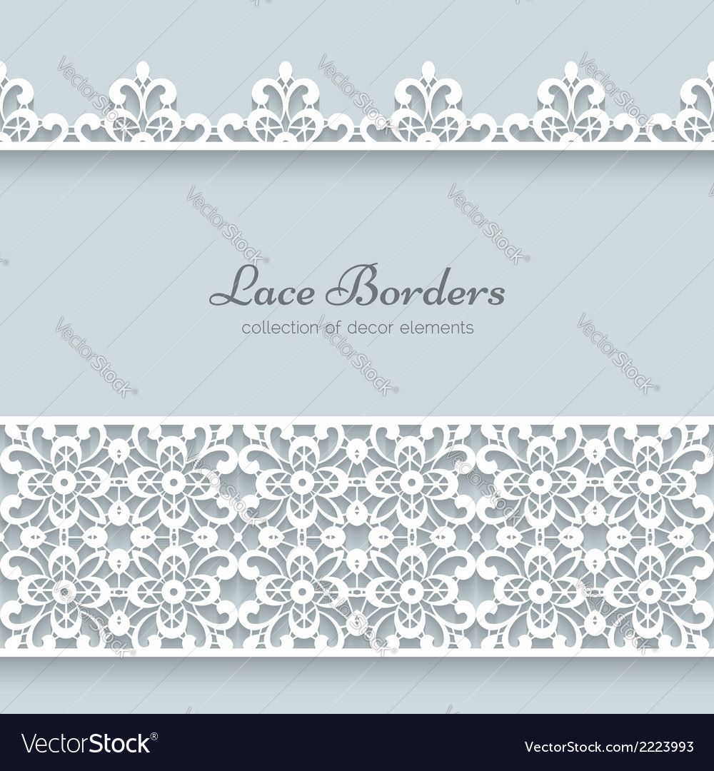 Paper frame with lace borders vector | Price: 1 Credit (USD $1)