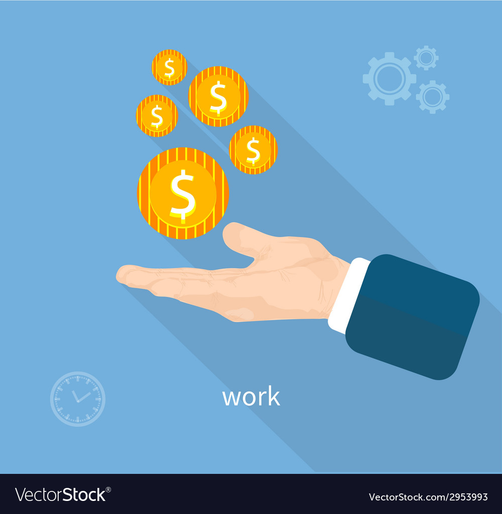 Payment of work vector | Price: 1 Credit (USD $1)