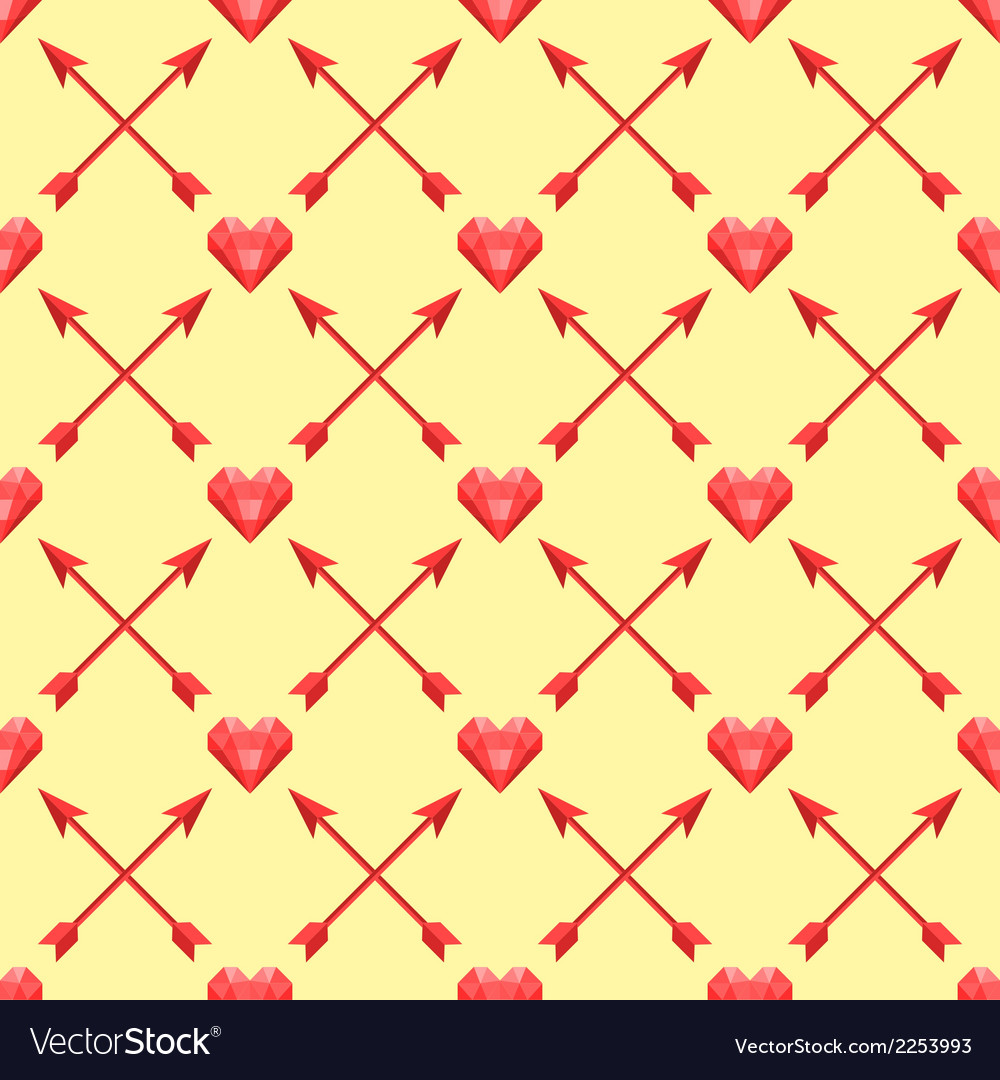 Seamless pattern of with polygonal hearts and vector | Price: 1 Credit (USD $1)