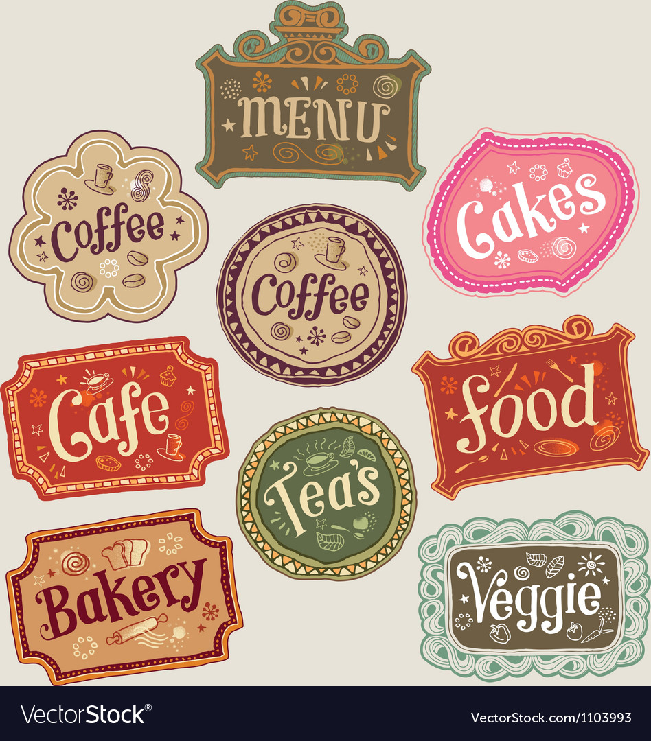 Set of doodle labels vector | Price: 1 Credit (USD $1)