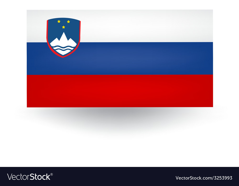 Slovenian flag vector | Price: 1 Credit (USD $1)