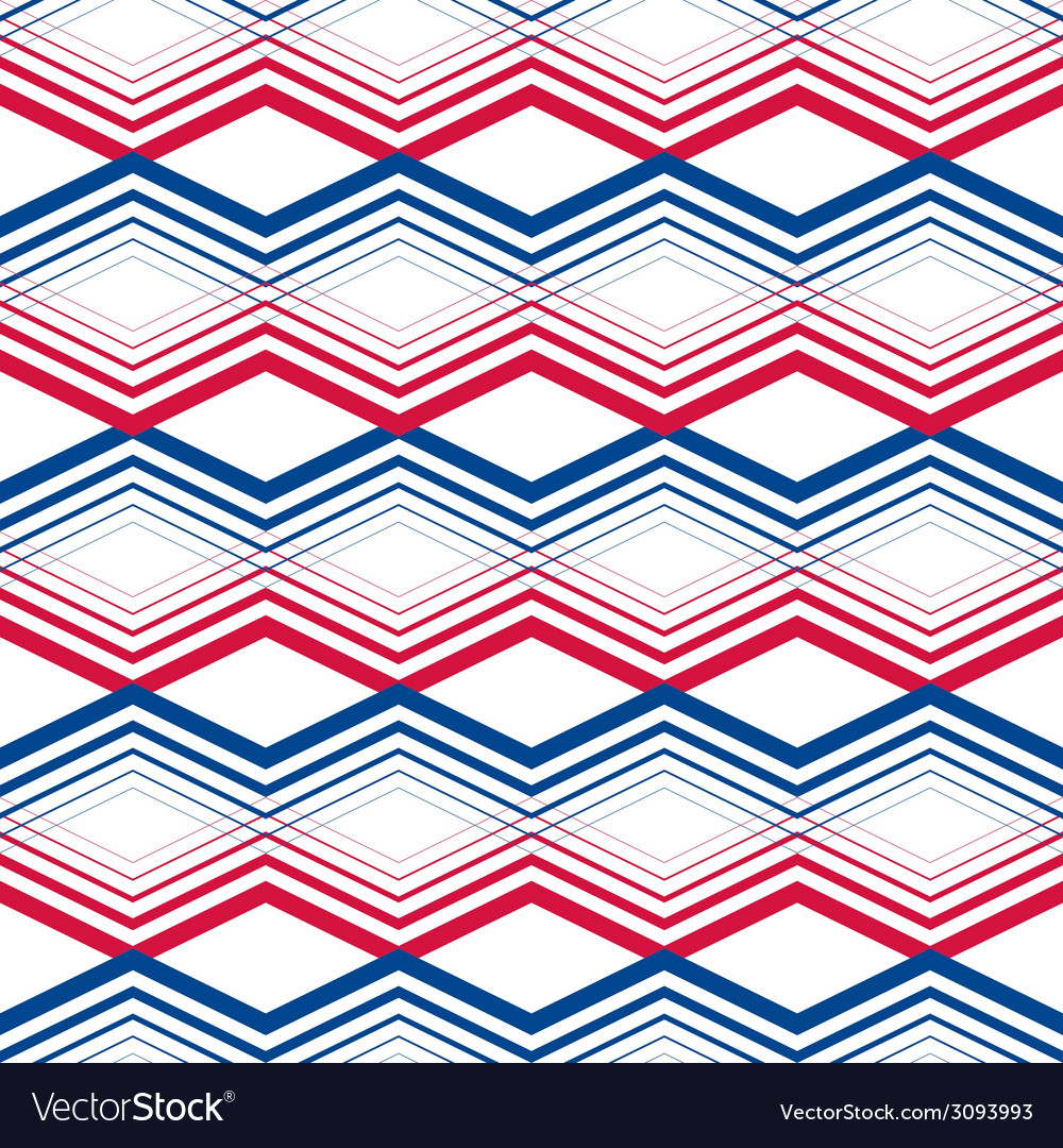 Zig zag geometric pattern retro style background vector | Price: 1 Credit (USD $1)