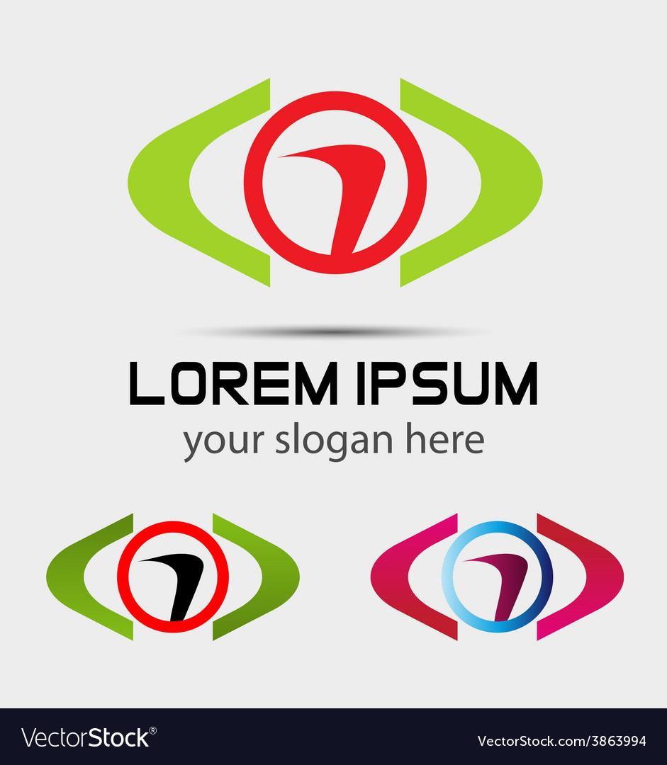 Abstract symbol logo design element vector | Price: 1 Credit (USD $1)