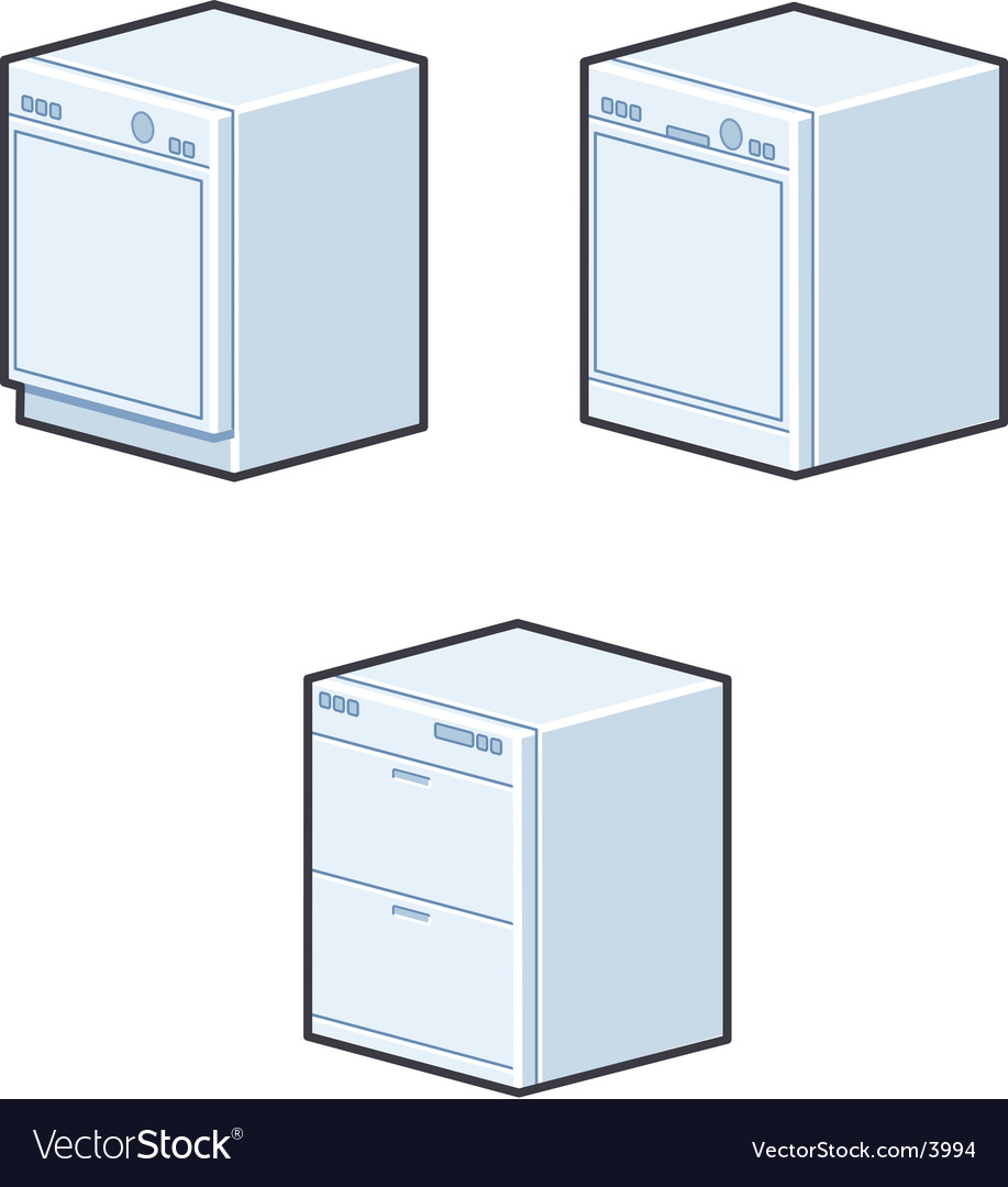 Dishwashers vector | Price: 1 Credit (USD $1)