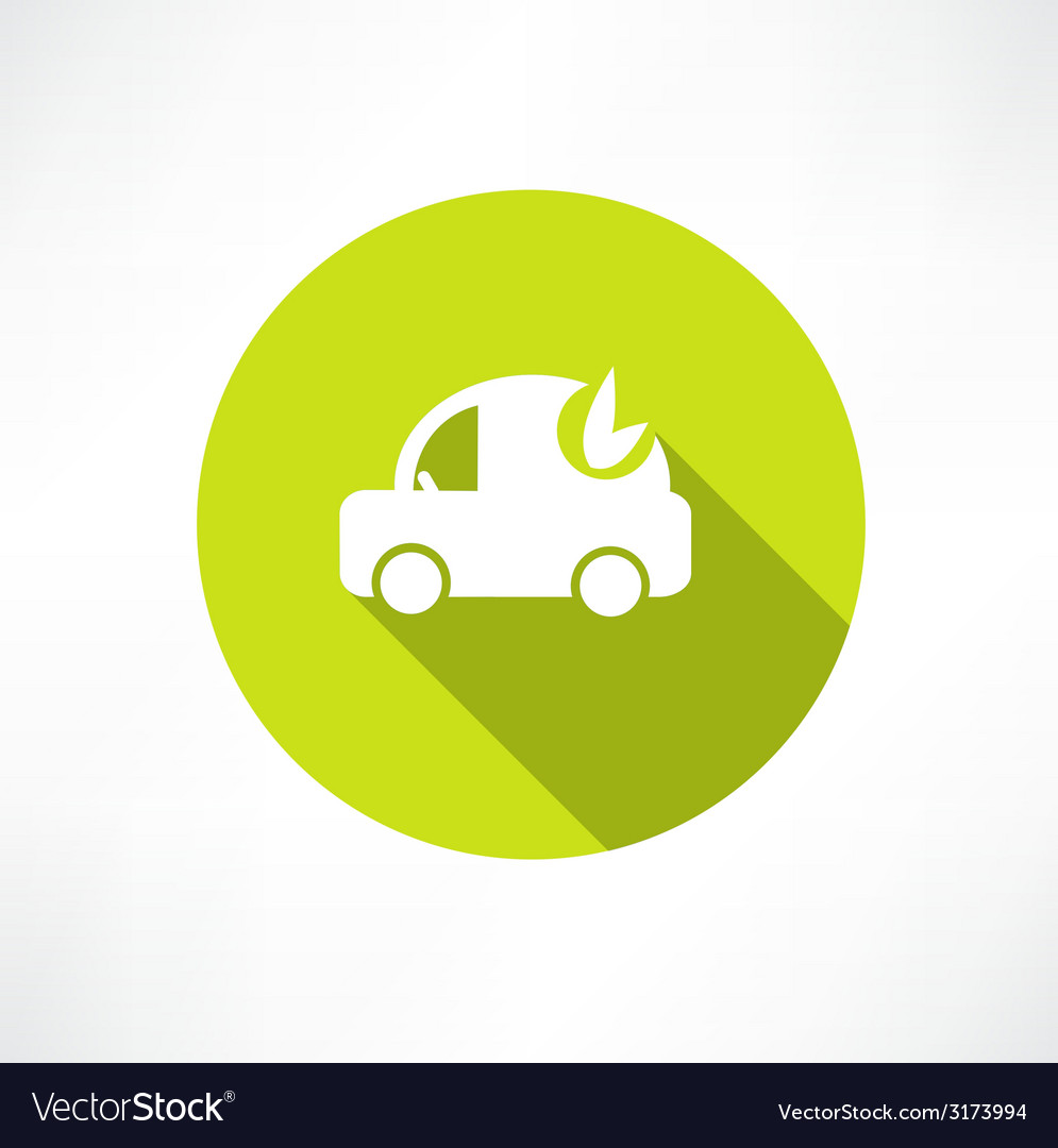 Eco car icon vector | Price: 1 Credit (USD $1)