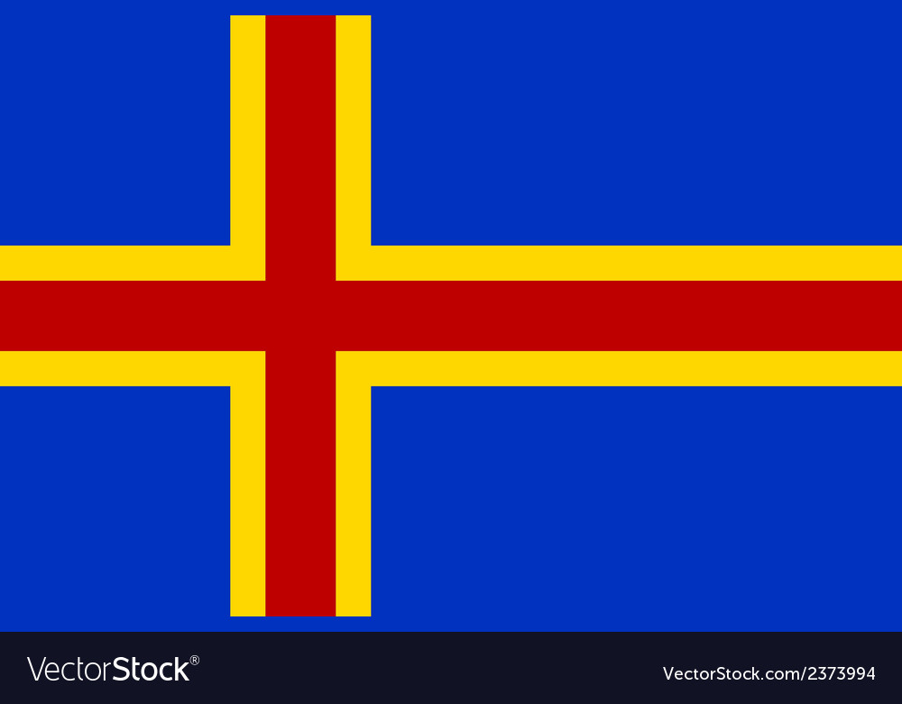 Flag of aland vector | Price: 1 Credit (USD $1)