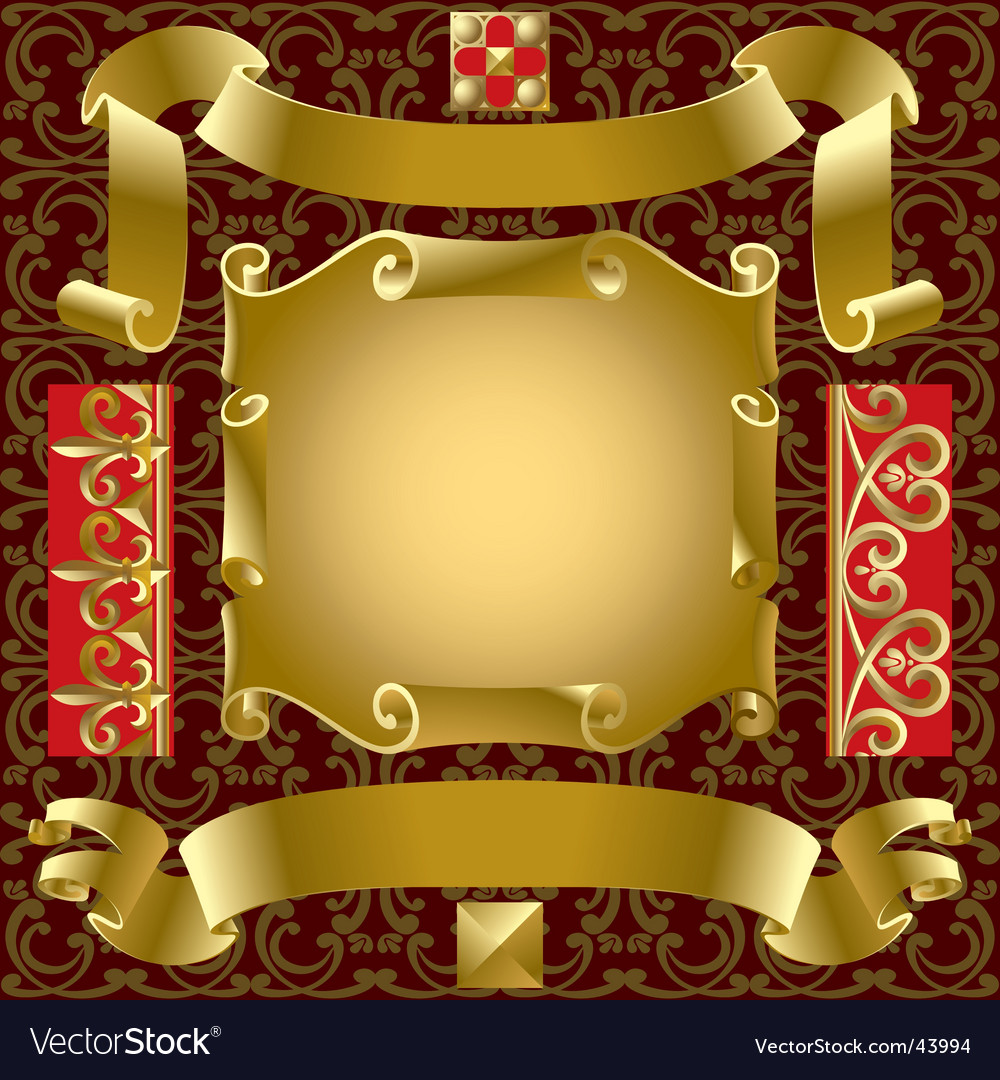 Gold banners vector | Price: 1 Credit (USD $1)