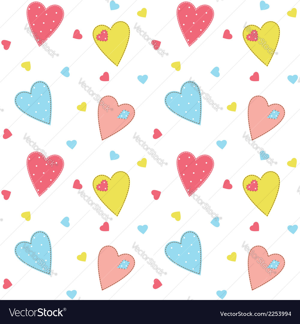 Romantic background with hearts vector | Price: 1 Credit (USD $1)