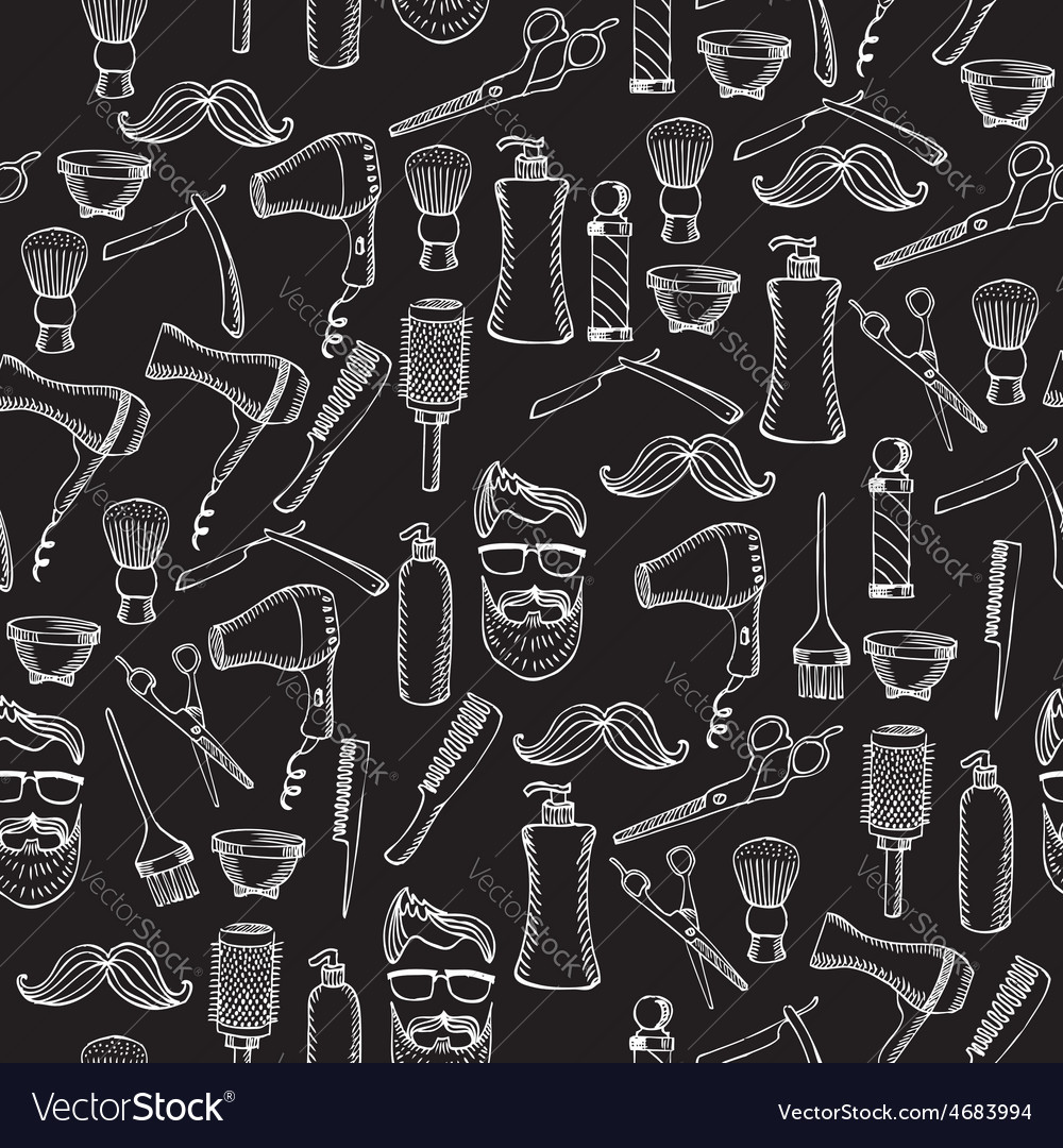 Seamless pattern background barber shop vector | Price: 1 Credit (USD $1)