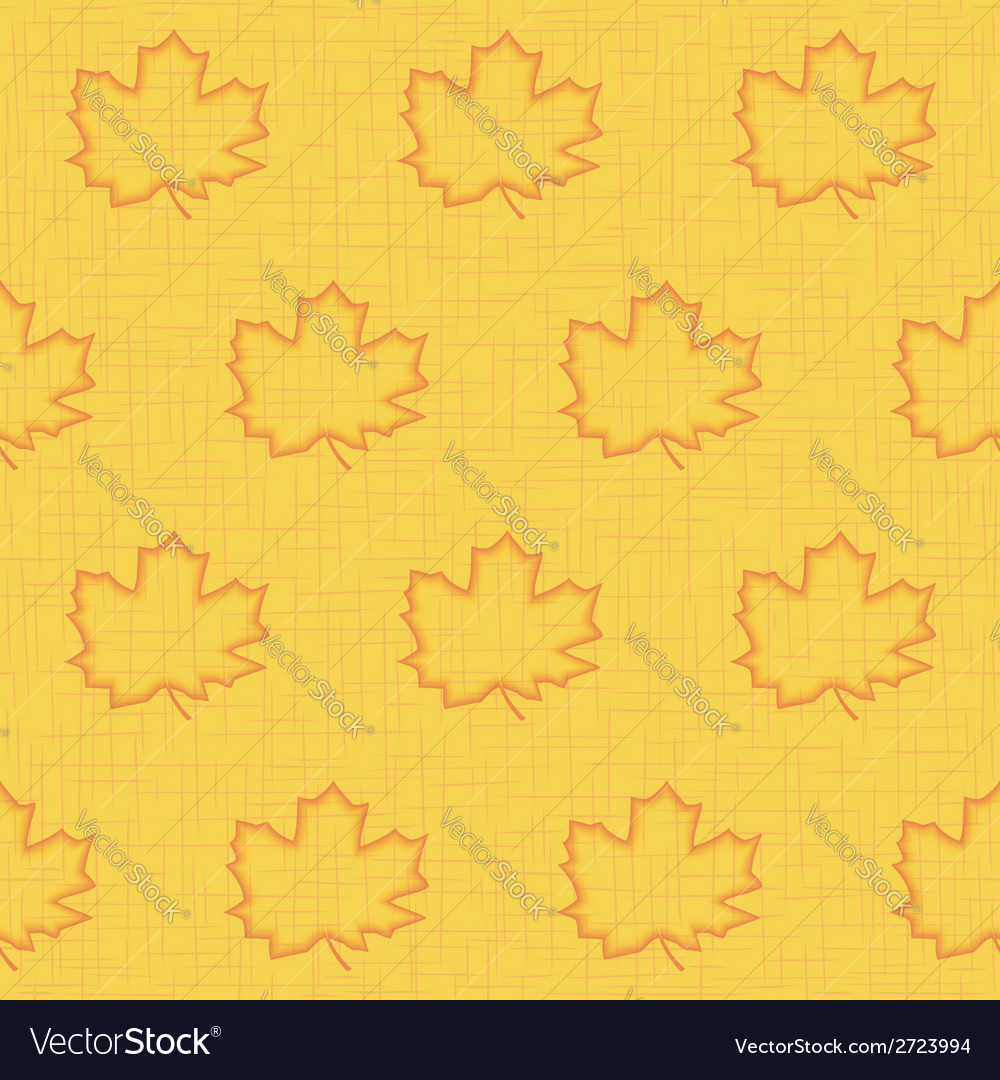 Seamless pattern of maple leaves vector | Price: 1 Credit (USD $1)