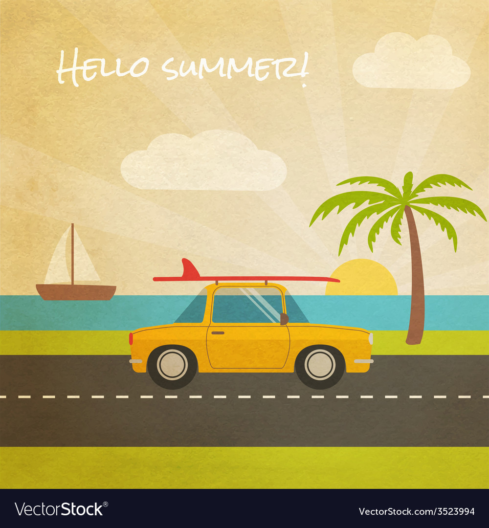 Summer vacation tourism vector | Price: 1 Credit (USD $1)