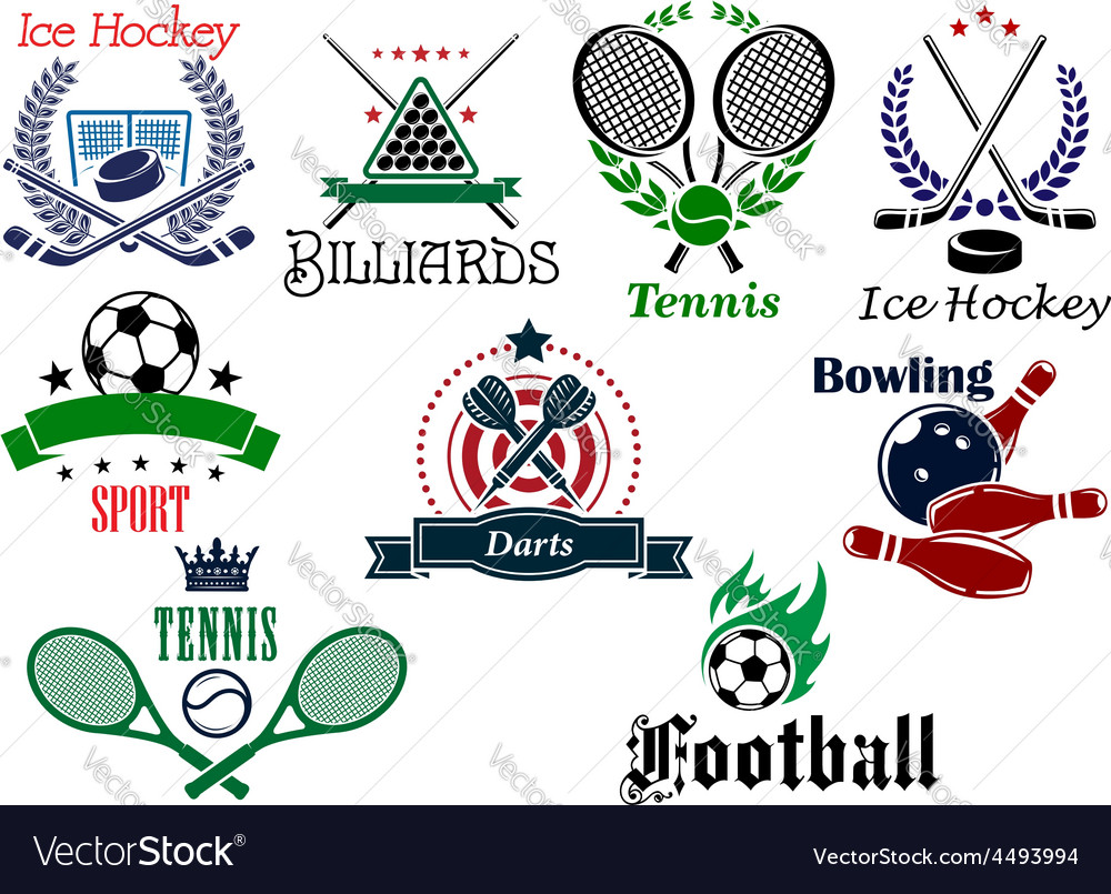 Team and individual sports heraldic emblems vector   Price: 1 Credit (USD $1)