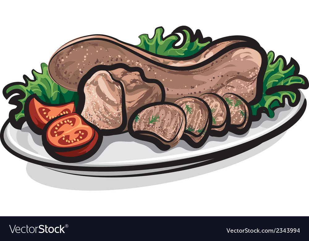 Veal tongue meat vector | Price: 1 Credit (USD $1)