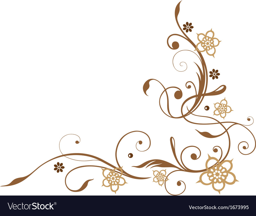 Flowers brown vector | Price: 1 Credit (USD $1)