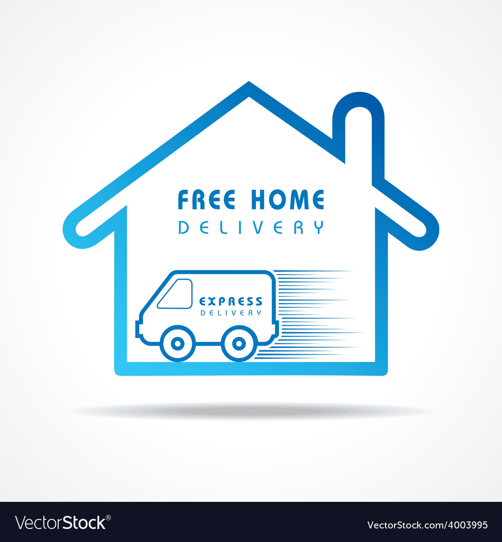 Free home delivery concept for increase the sell vector | Price: 1 Credit (USD $1)