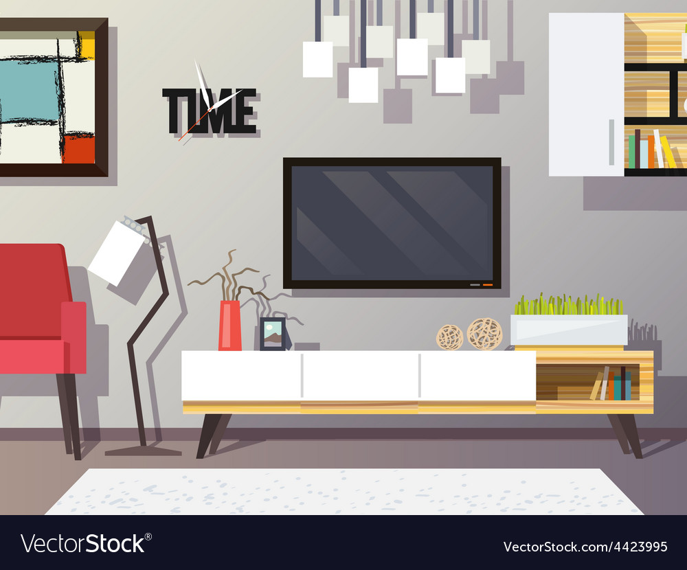 Living room concept vector | Price: 1 Credit (USD $1)