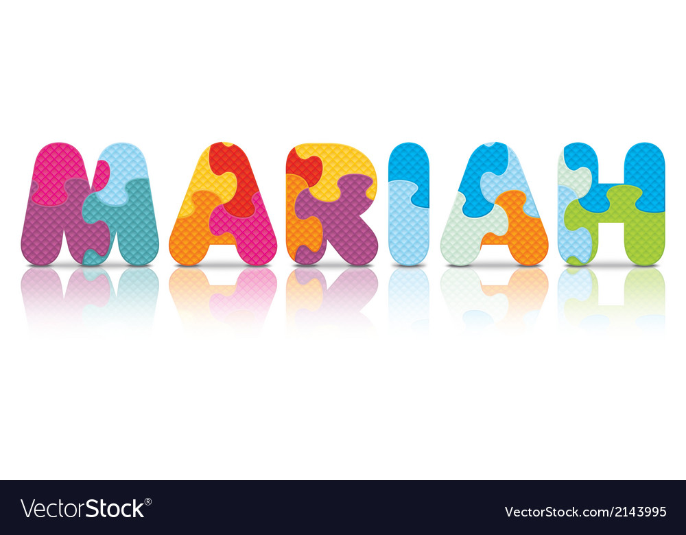 Mariah written with alphabet puzzle vector | Price: 1 Credit (USD $1)