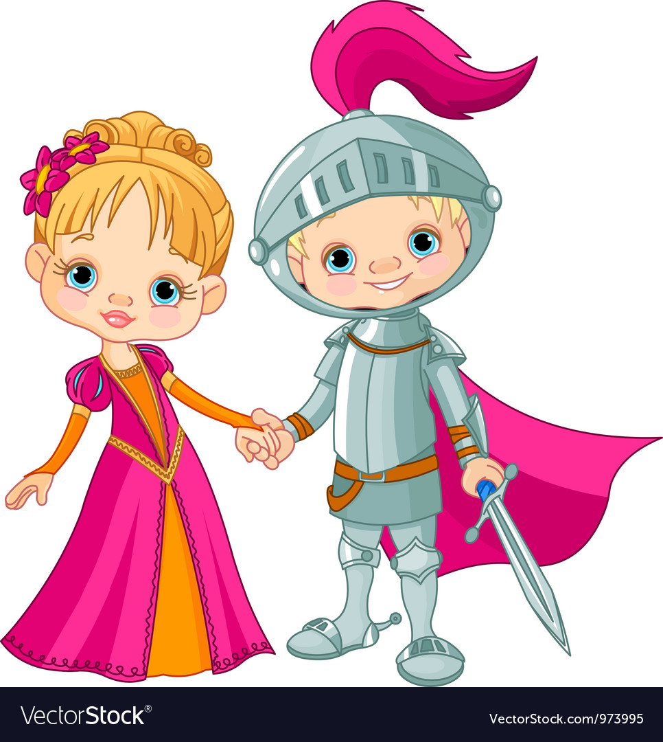 Medieval boy and girl vector | Price: 3 Credit (USD $3)