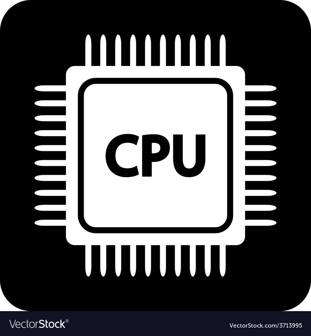 Microchip symbol button vector | Price: 1 Credit (USD $1)