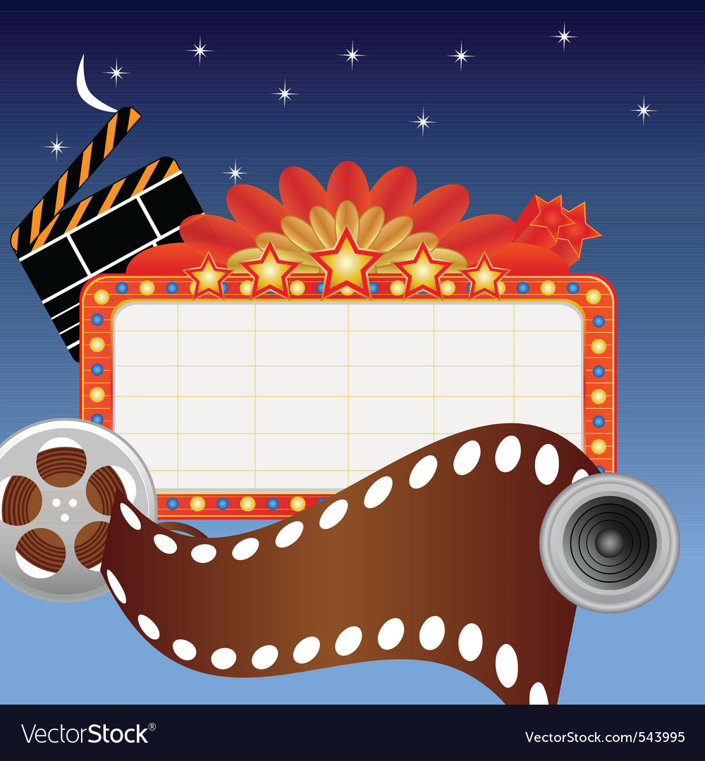 Movie marque vector | Price: 1 Credit (USD $1)