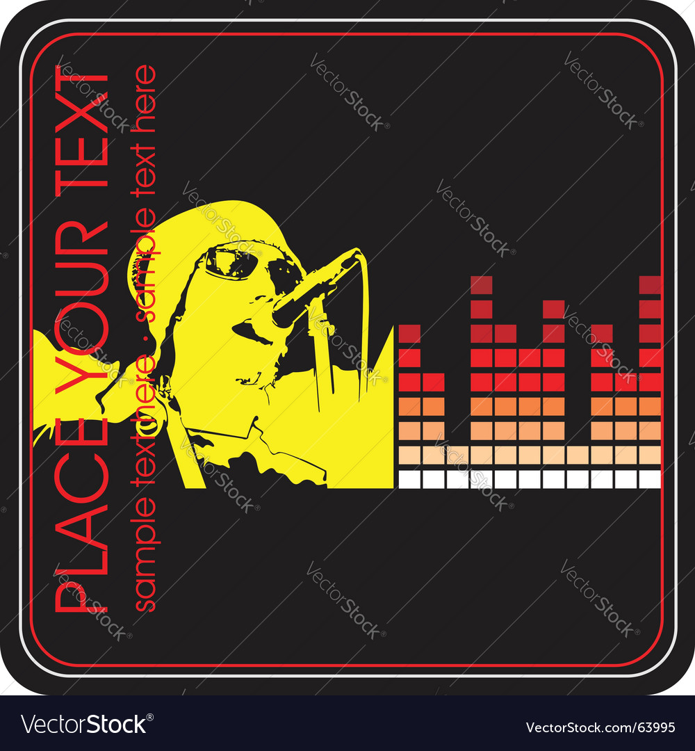 Musical poster elements vector | Price: 1 Credit (USD $1)