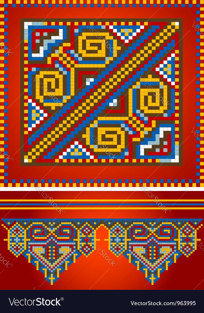 Ornament red carpet vector | Price: 1 Credit (USD $1)