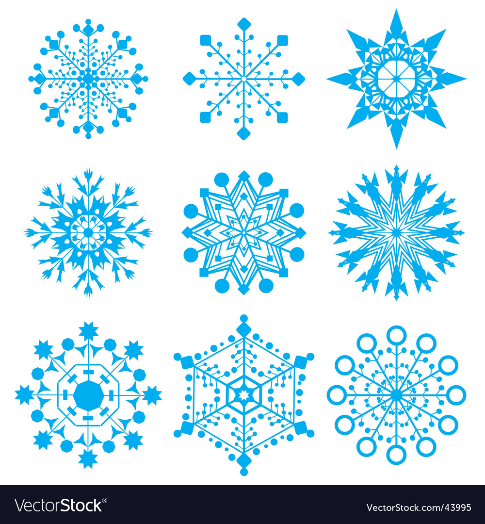 Snow-flakes vector | Price: 1 Credit (USD $1)