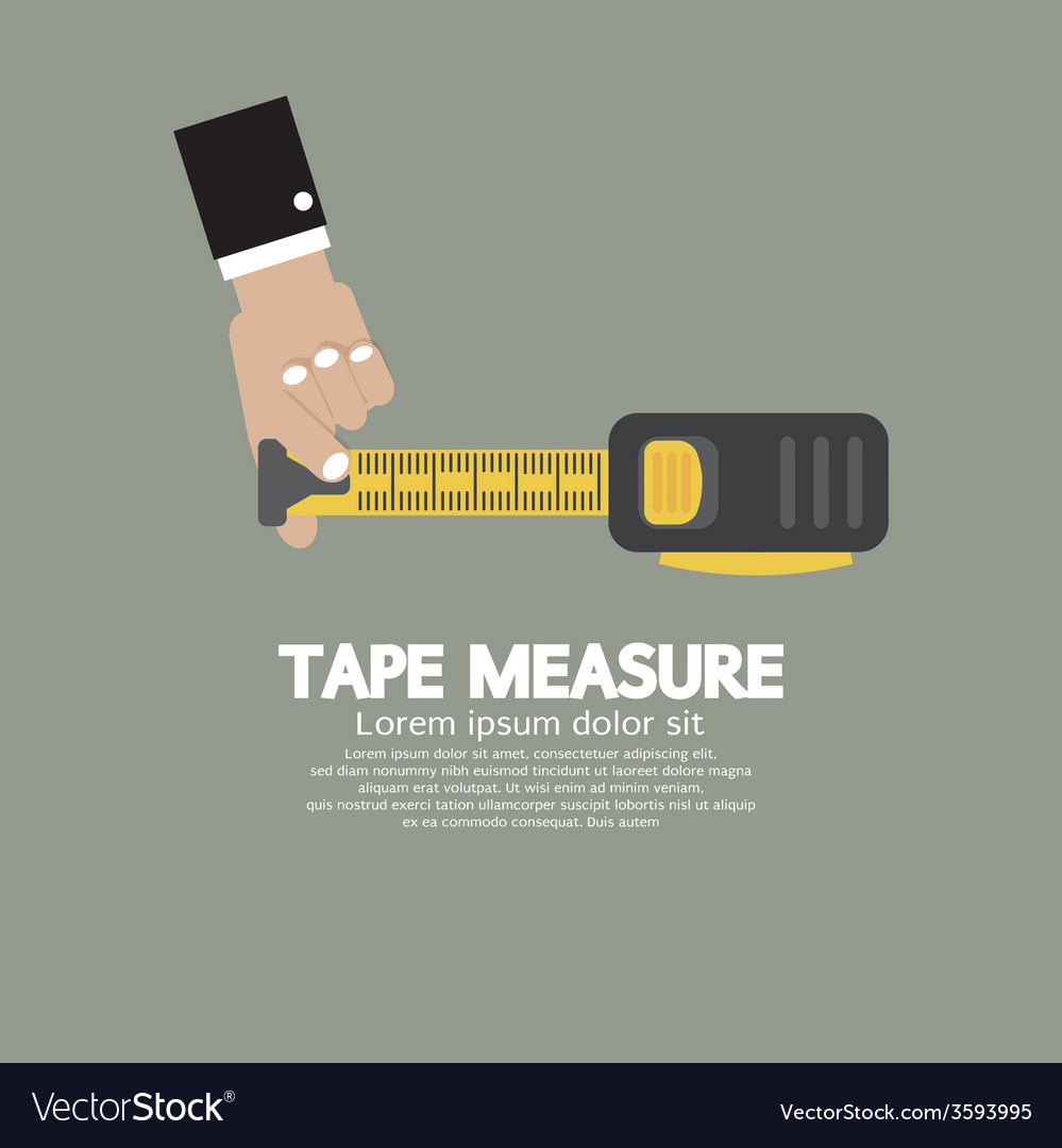 Tape measure with mans hand vector | Price: 1 Credit (USD $1)