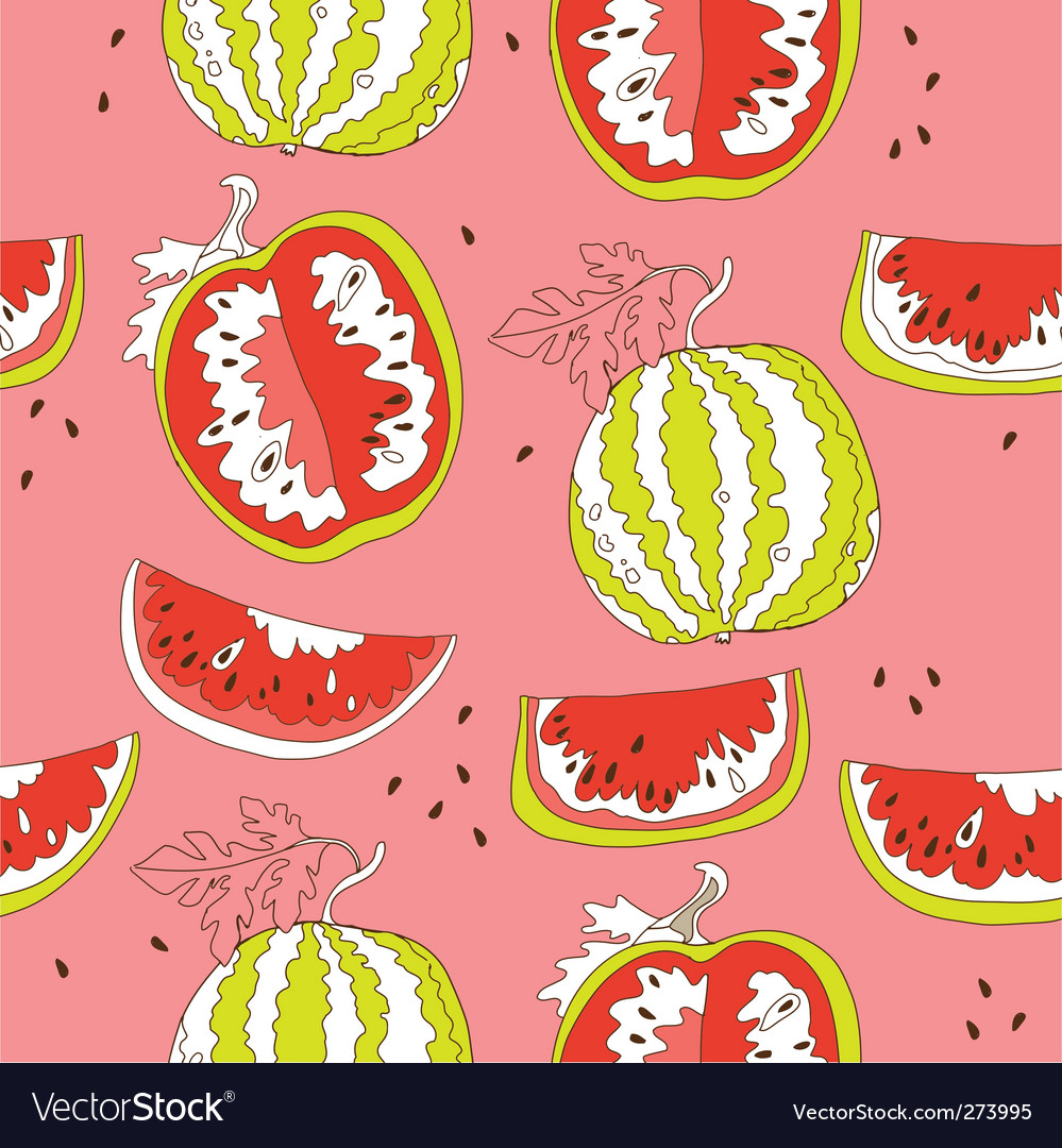 Watermelon seamless pattern vector | Price: 3 Credit (USD $3)