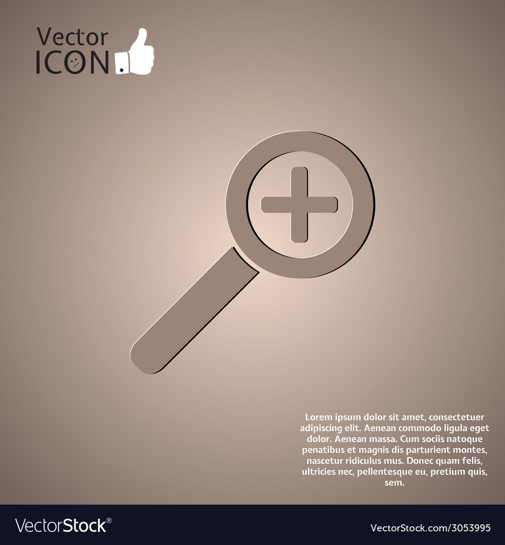 Zoom in web icon vector | Price: 1 Credit (USD $1)