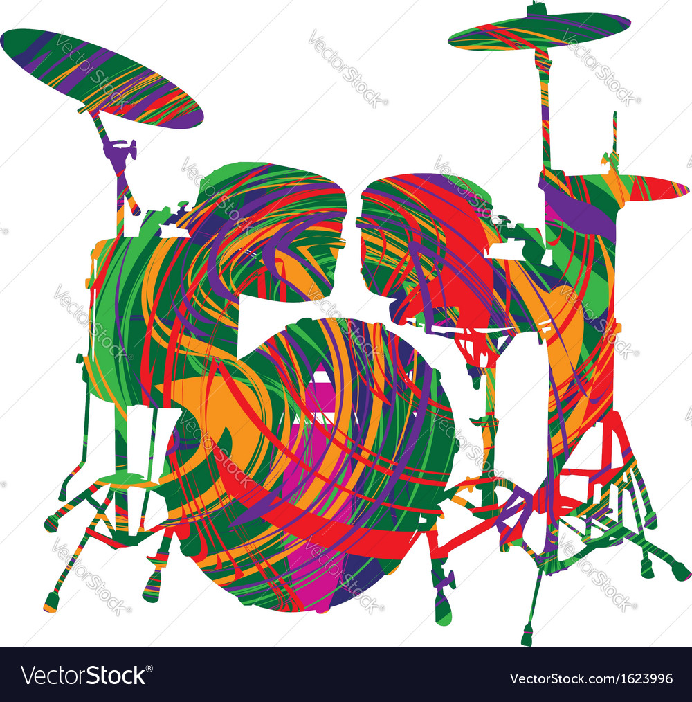 Abstract drum vector | Price: 1 Credit (USD $1)