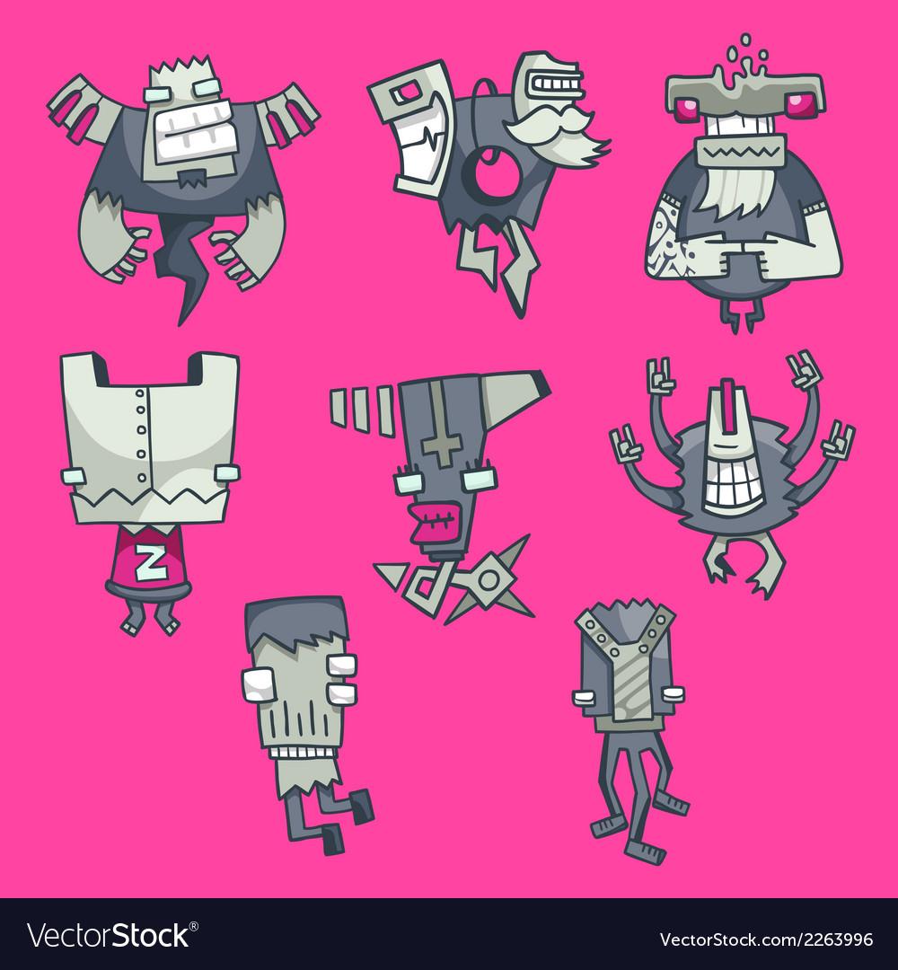 Cartoon funny monsters set vector   Price: 1 Credit (USD $1)