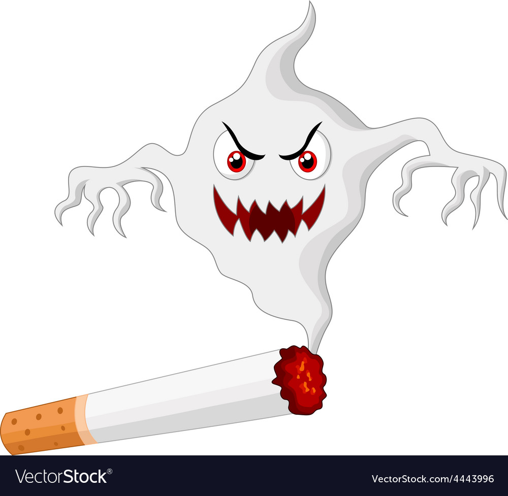 Cigarette with monster in smoke vector | Price: 1 Credit (USD $1)