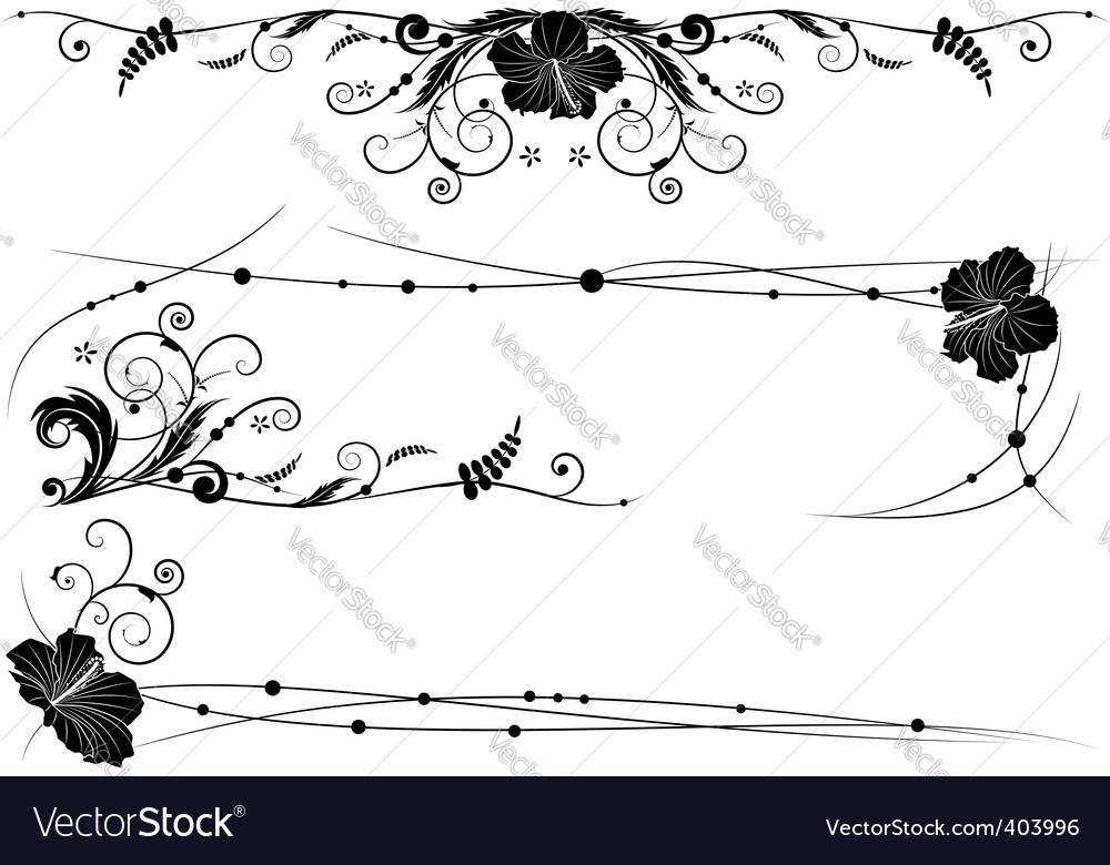 Floral design elements vector | Price: 1 Credit (USD $1)