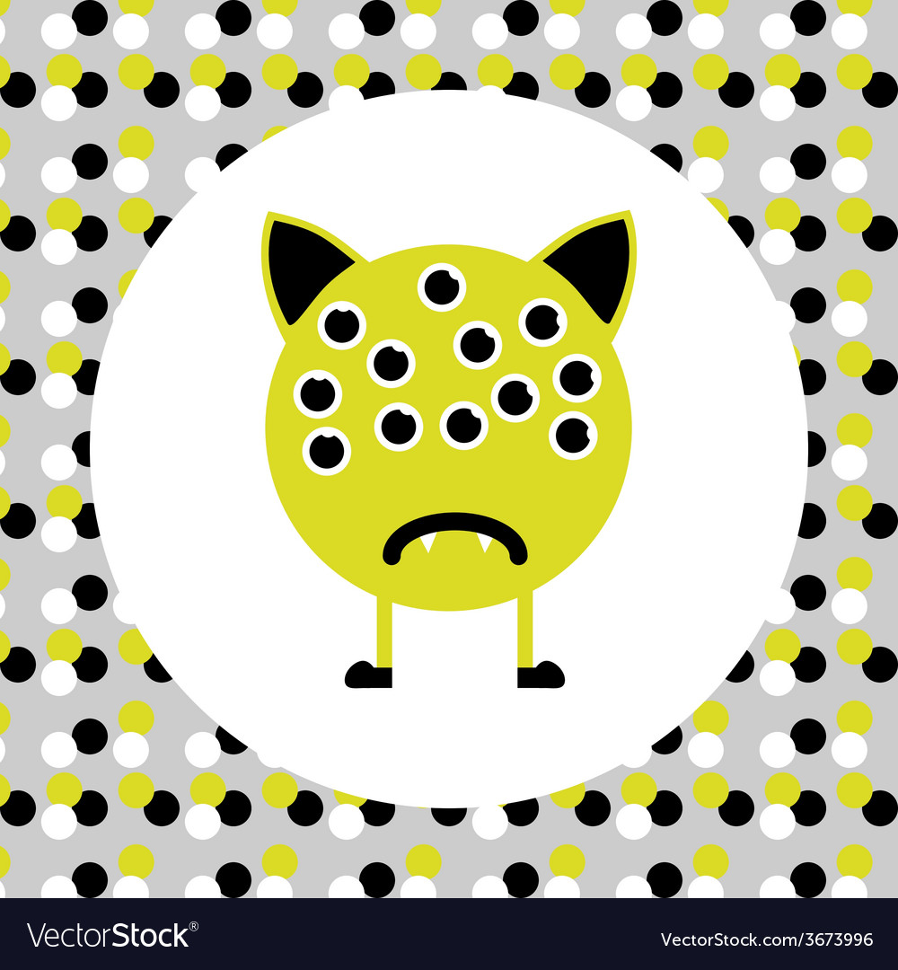 Little cute monster with many eyes vector | Price: 1 Credit (USD $1)