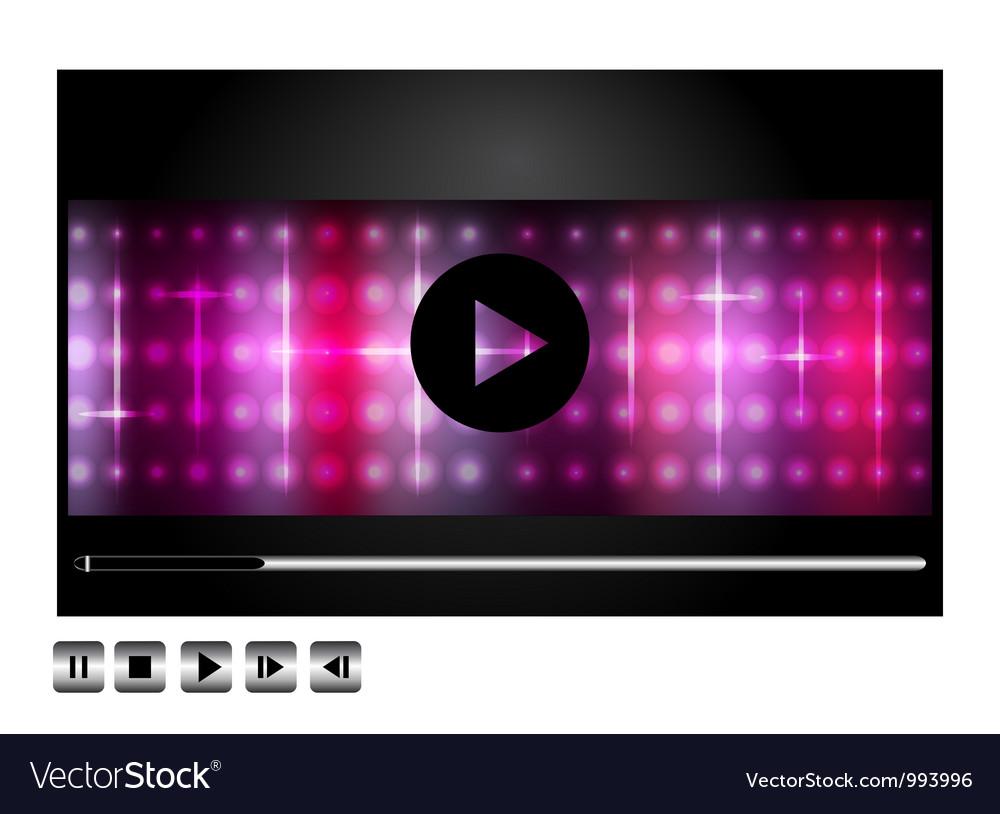 Media player design vector | Price: 1 Credit (USD $1)