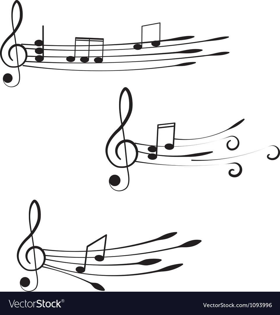 Music treble clef and notes for your design on a vector | Price: 1 Credit (USD $1)