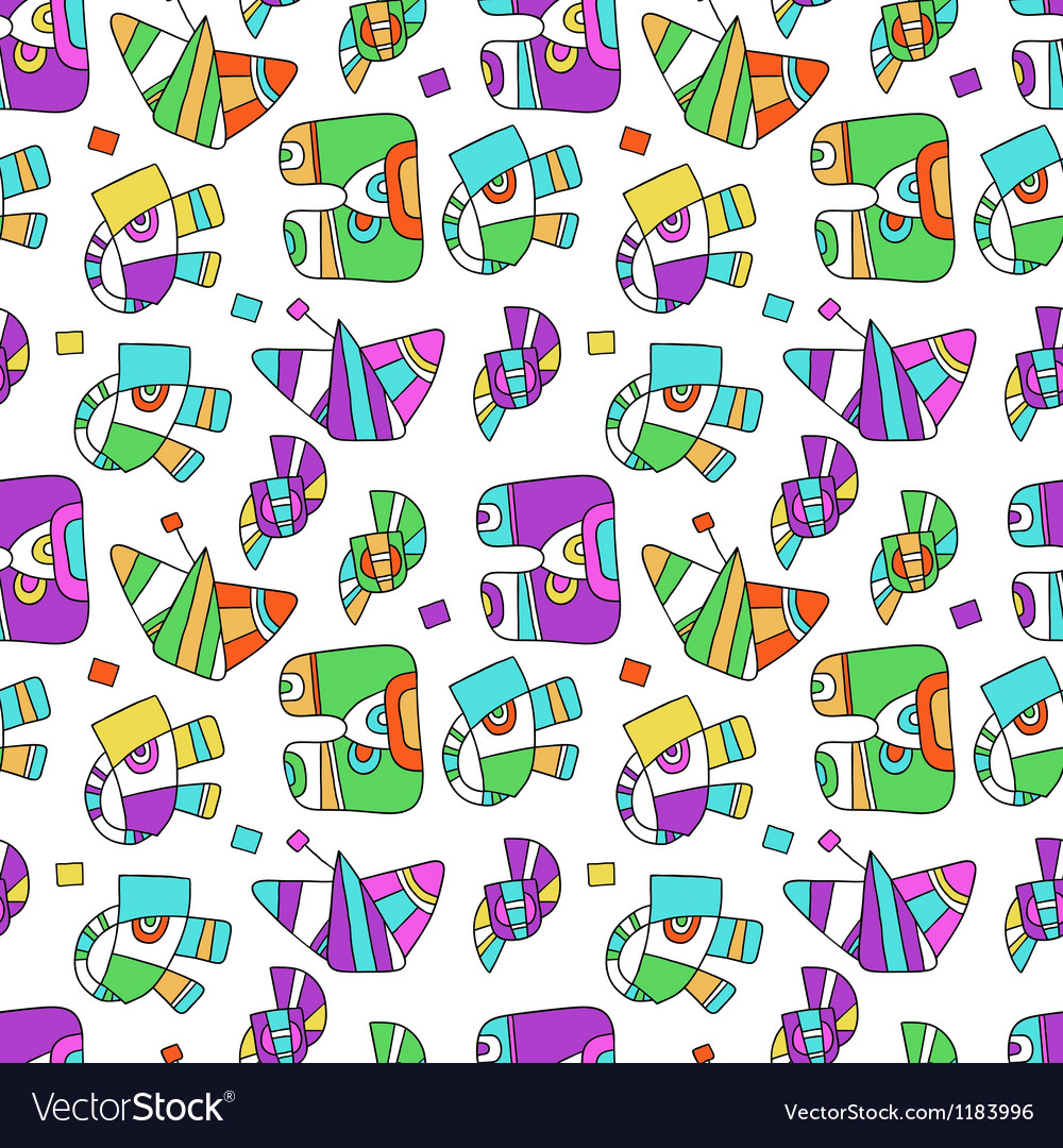 Seamless pattern with fantastic things vector | Price: 1 Credit (USD $1)