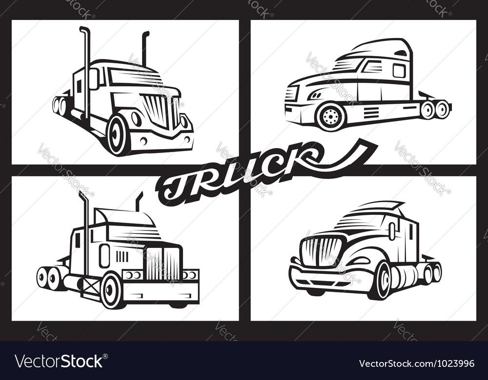Set of trucks vector | Price: 1 Credit (USD $1)