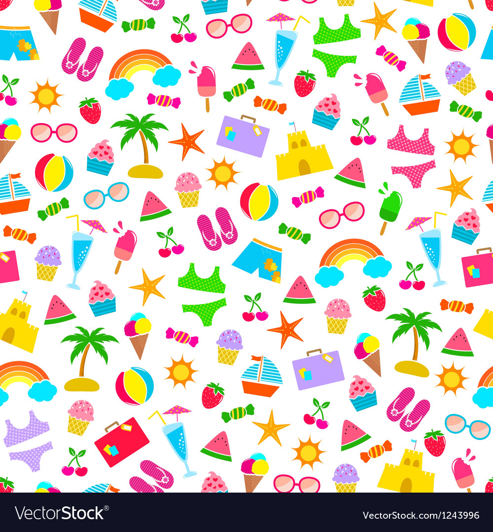 Summer pattern vector | Price: 1 Credit (USD $1)