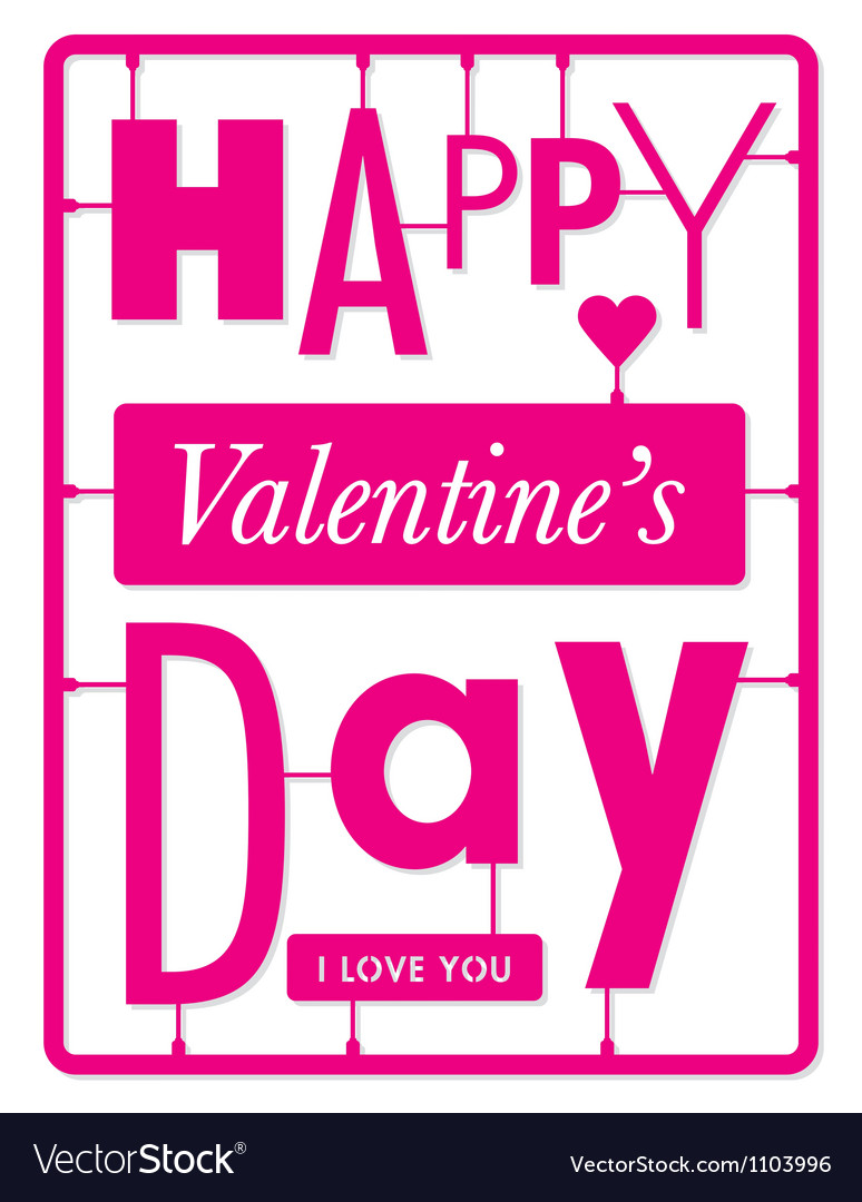 Typographic valentines day card vector | Price: 1 Credit (USD $1)