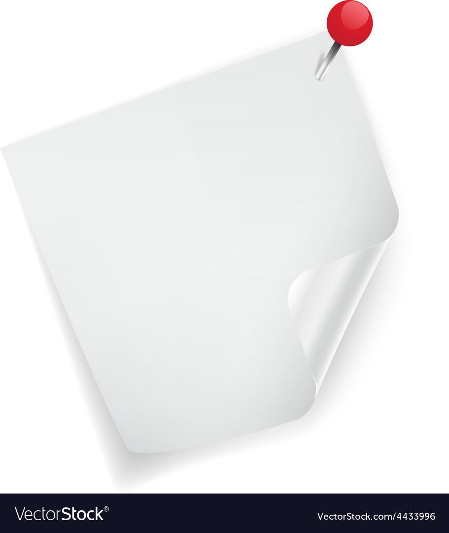 White sticker paper note vector | Price: 1 Credit (USD $1)