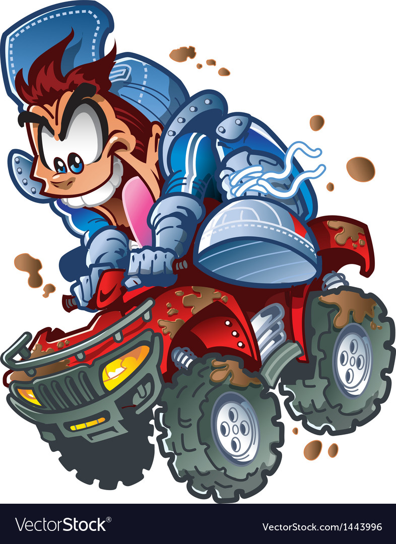 Wild atv quad rider vector | Price: 3 Credit (USD $3)