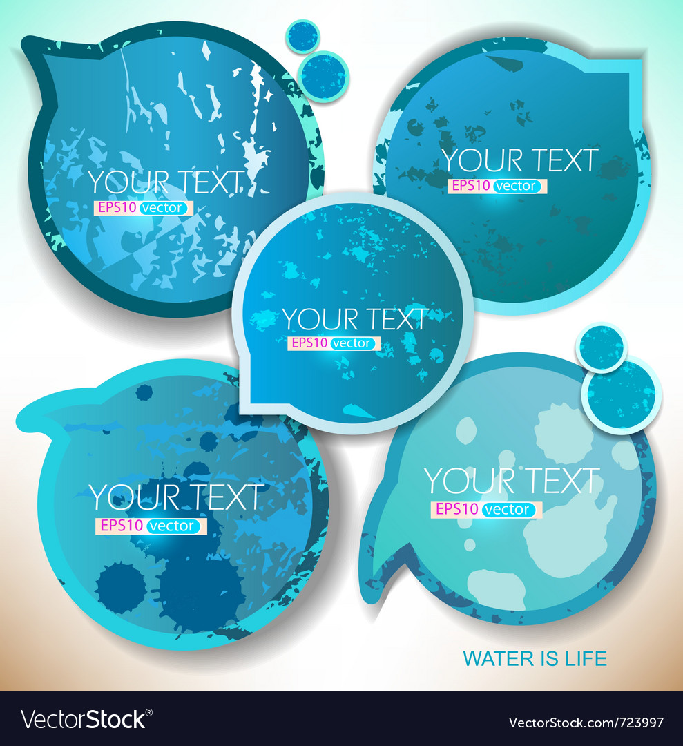 Blue paper round bubble for speech vector | Price: 1 Credit (USD $1)