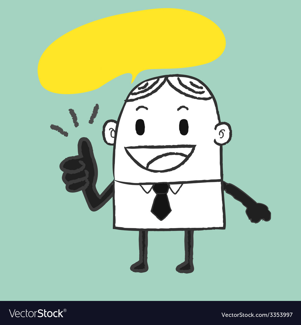 Business man good vector | Price: 1 Credit (USD $1)